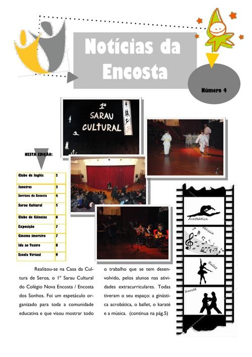 Notícias da Encosta - Newsletter nº4