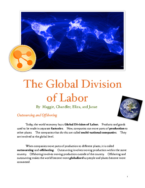 Global Division of Labor