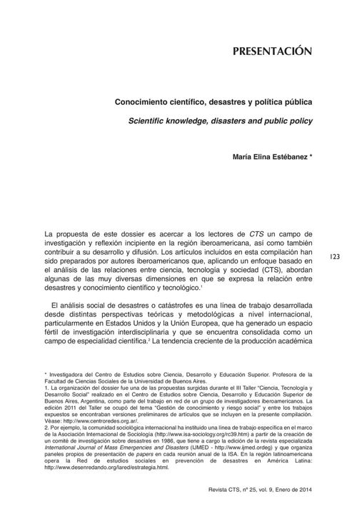 VOL09/N25 - Presentación