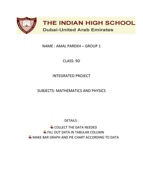 PHYSICS INTEGRATED PROJECT