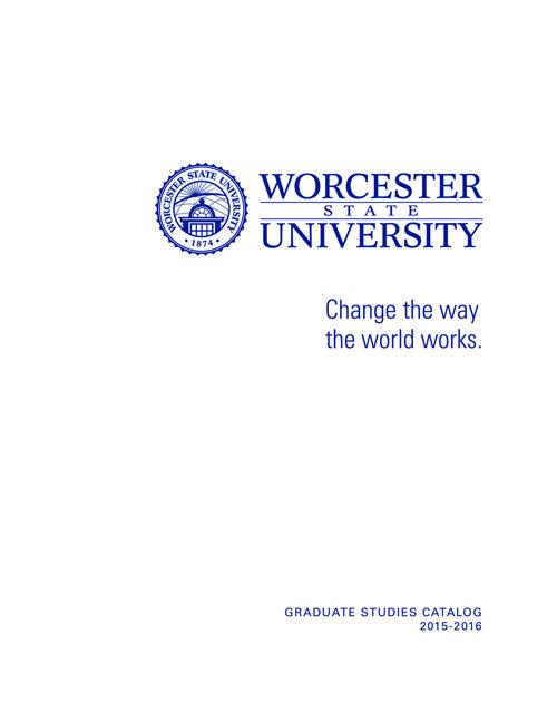 Graduate Catalog 2015-16