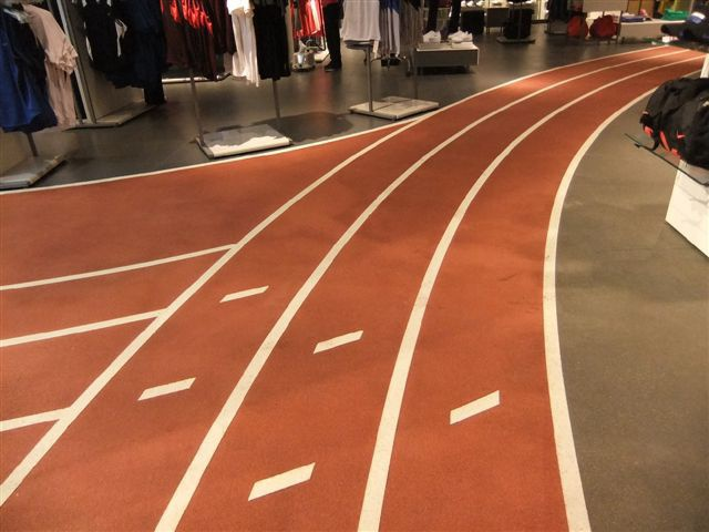 Retail commercial floorings by using spray texture method