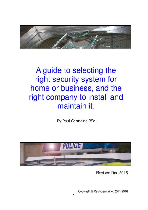 Security Systems Buyers Guide v.10 excerpt