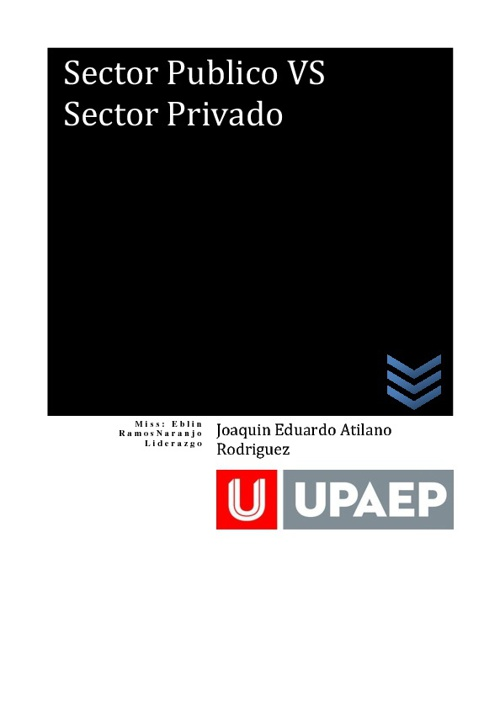 Sector Publico VS Sector Privado