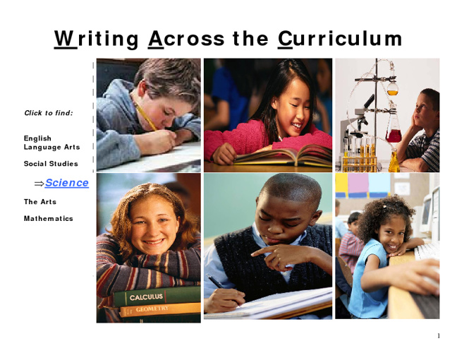 Writing Across the Curriculum-Science