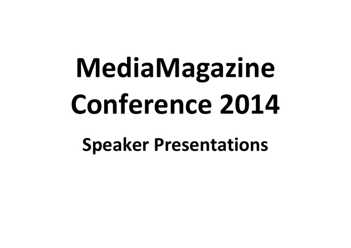 Media Magazine Student Conference