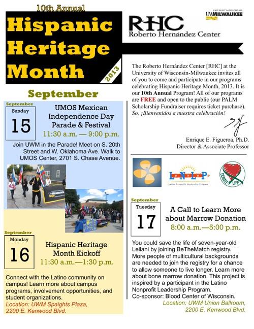 Hispanic Heritage Month at UW-Milwaukee