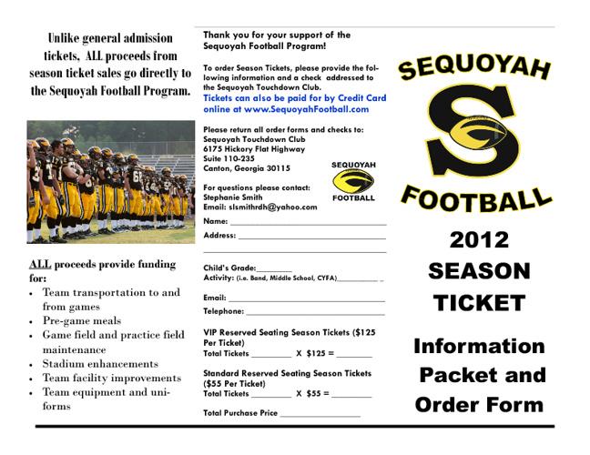 2012 Season Ticket Brochure
