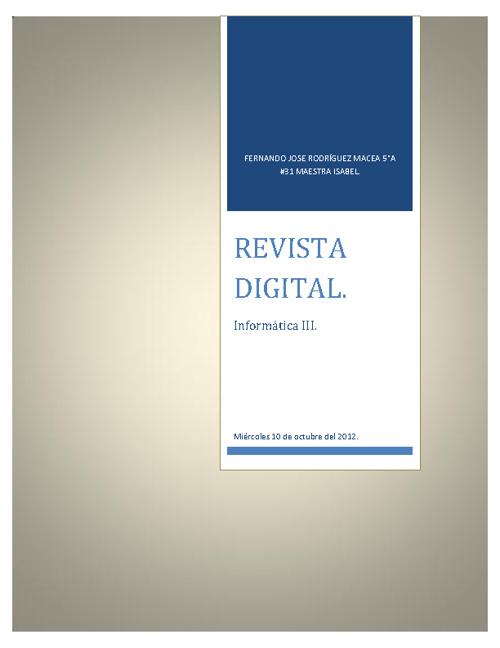 Publicación digital.