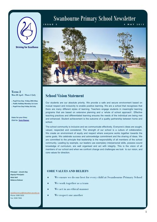 Newsletter Term 2a            4.05.15