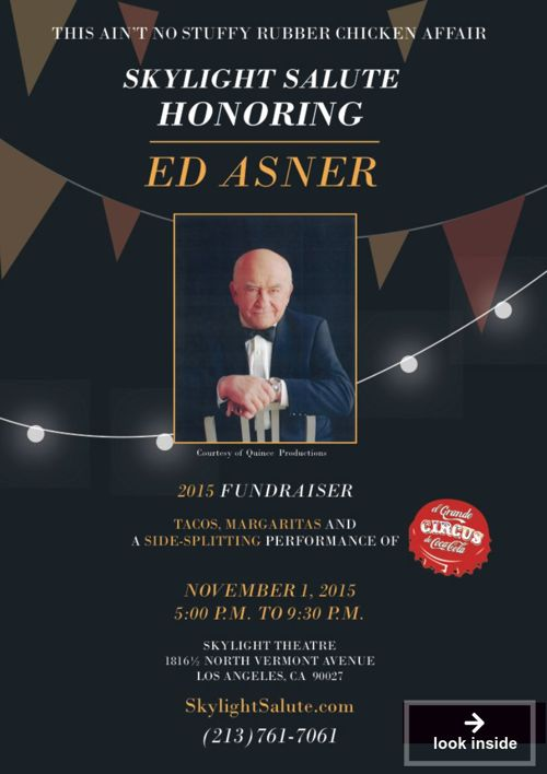 Celebrate Ed Asner - Skylight Theatre 2015 Salute