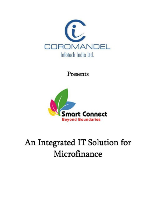 Writeup on Smart Connect for Microfinance