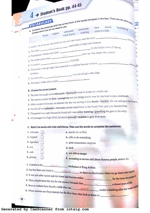 B2 Workbook Module 4 Answer Key
