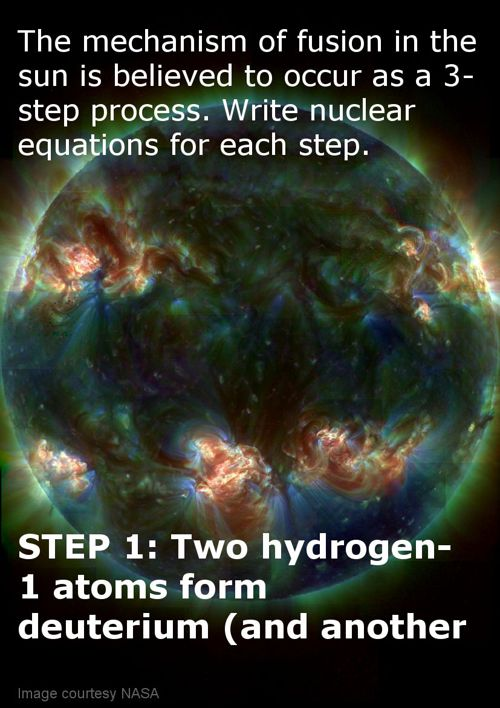 Hydrogen fusion equations