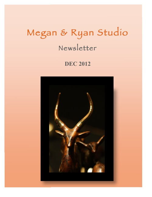 Megan & Ryan Studio Newsletter 2012