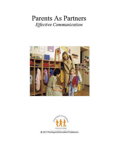 Parents As Partners: Effective Communication