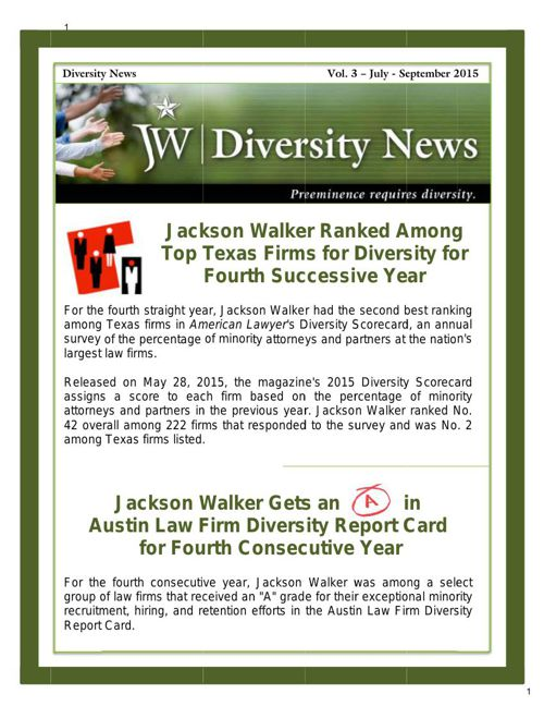 Diversity Newsletter - Vol. 3-July-Sept 2015