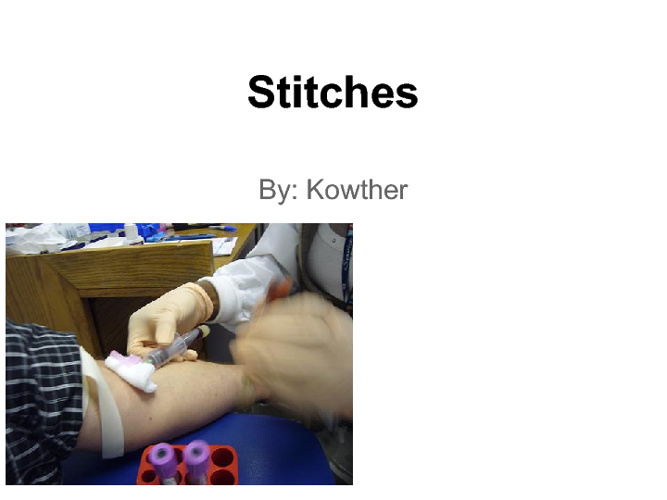 Stitches by Kowther