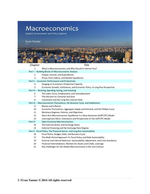 Table of Contents and Chapter Summaries Feb 2014