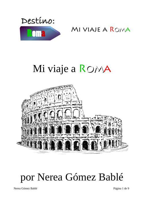 Mi viaje a Roma - Nerea Gomez