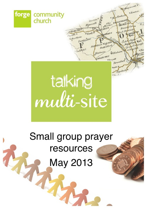 Forge Multisite Prayer for Small groups