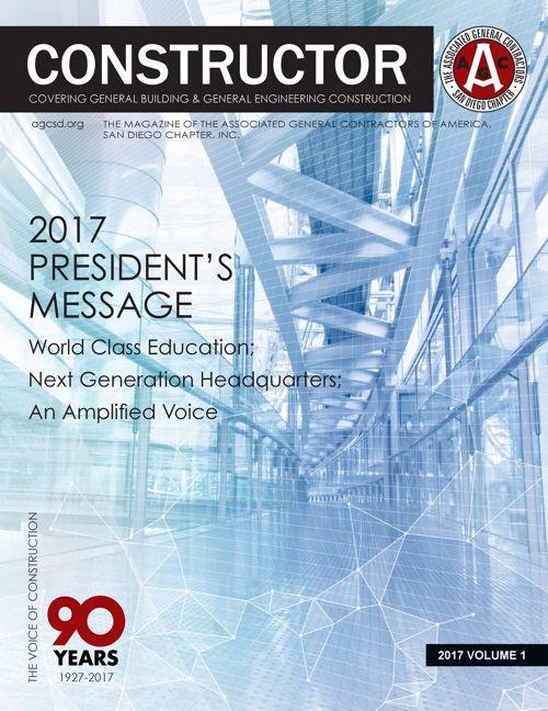 AGC San Diego Constructor Magazine Volume 1 2017