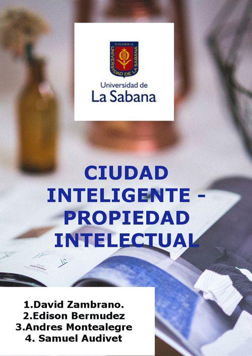 Ciudad Inteligente-Propiedad intelectual