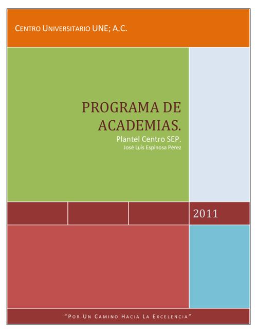 PROGRAMA INSTITUCIONAL DE ACADEMIAS