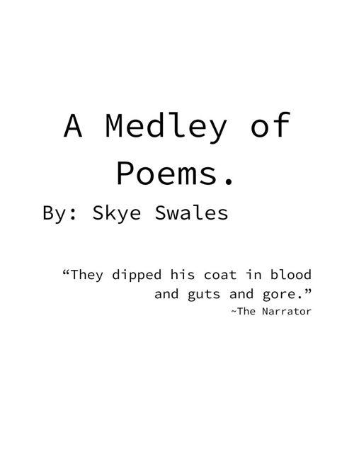 Skye's Poetry Portfolio