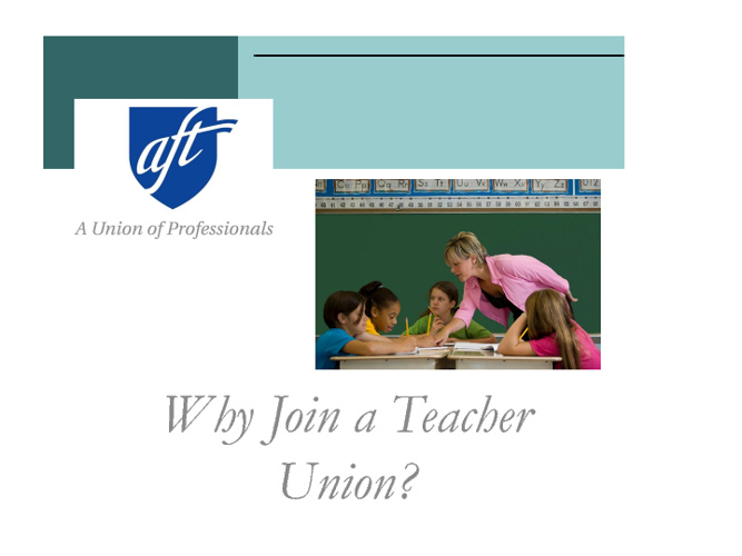 Why Join a Teacher Union?