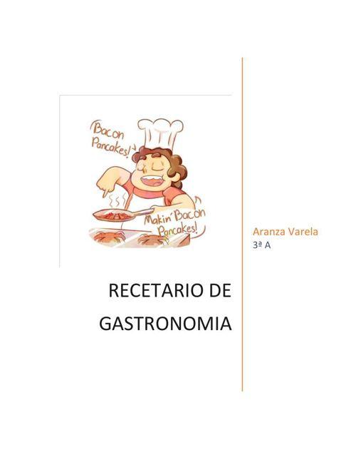 RECETARIO Aranza Varela Garcia 3A