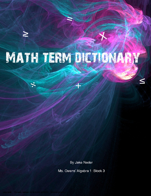 Math Term Dictionary