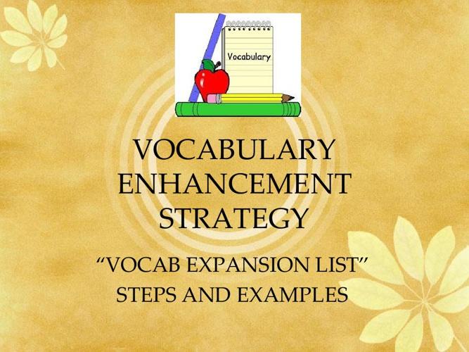 VOCAB EXPANSION LIST