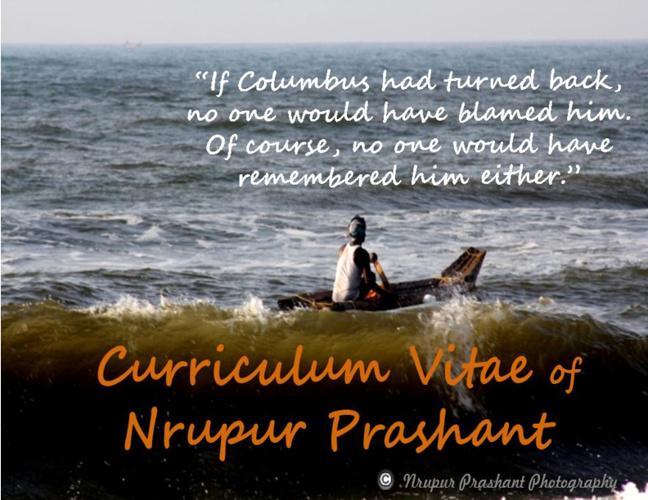 CV of Nrupur Prashant