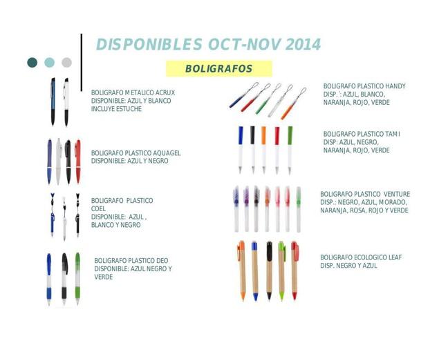 PRODUCTOS POP DISPONIBLES OCTUBRE NOVIEMBRE 2014