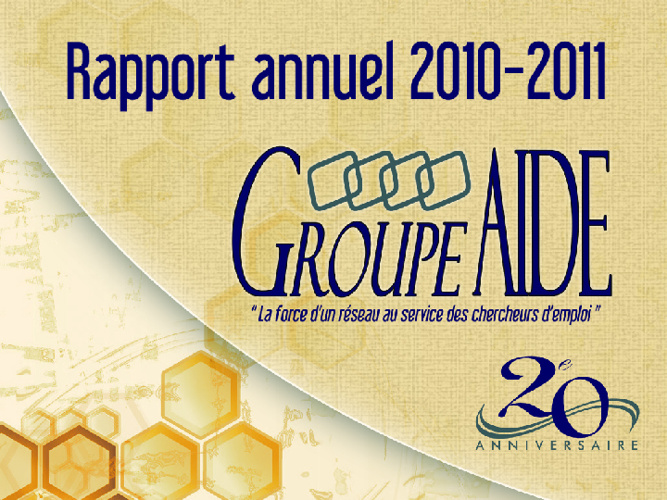 GROUPE A.I.D.E. : Rapport annuel 2010-2011