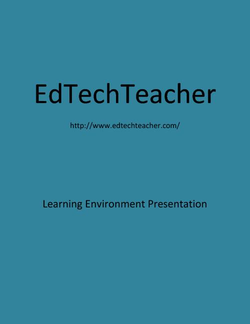 Learning Environment Presentation
