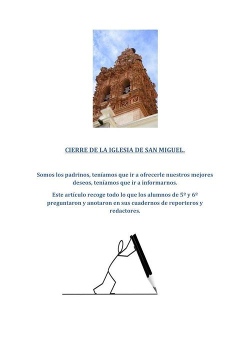 CIERRE DE LA IGLESIA DE SAN MIGUEL