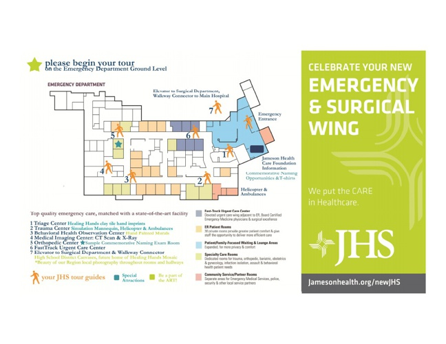 New Emergency & Surgical Wing l Grand Opening Tour Maps