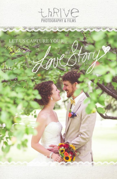 Thrive Photography & Films Wedding Packages & Investment Guide