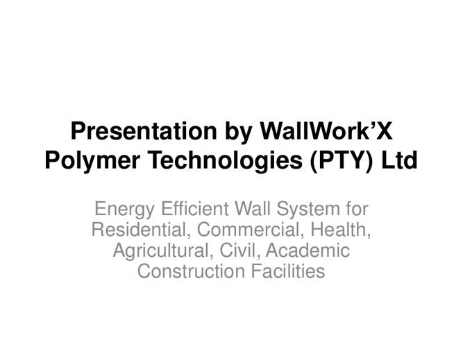 WallWork'X Presentation