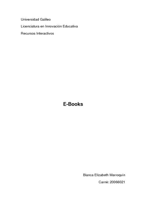 E books.