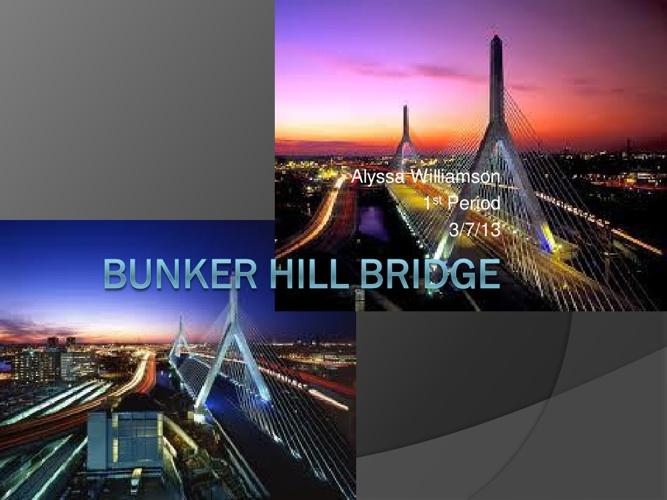 Bunker Hill Bridge/Zakim Bridge
