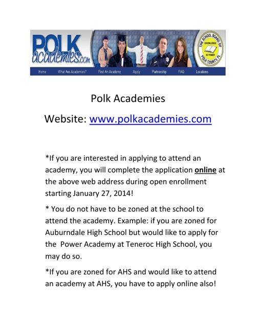 Polk Career Academies