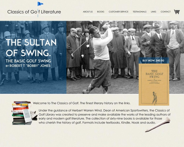 Classics of Golf Web Design