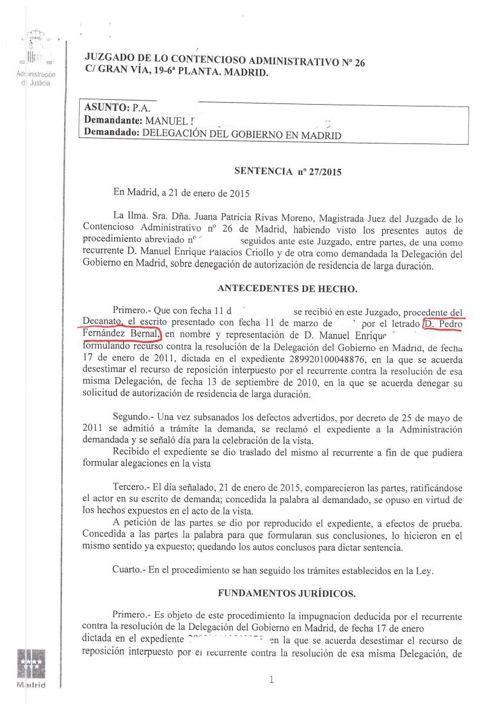 FBERNAL ABOGADOS recurso estimando renovacion residencia con a.p