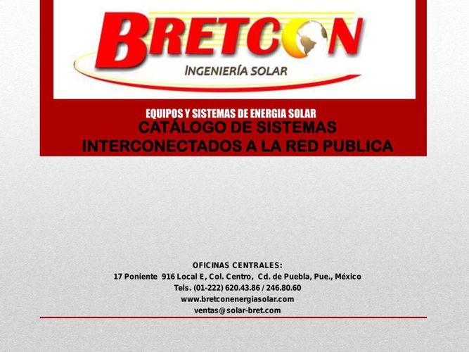 CATALOGO SISTEMAS INTERCONECTADOS 2015