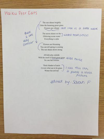 Haiku peer edits