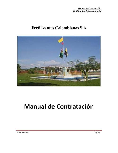 Manual de Contratacion Pública