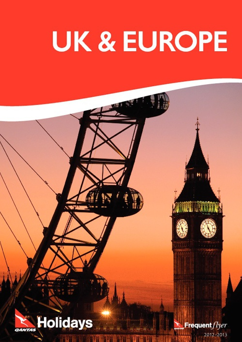 Qantas Holidays UK & Europe Brochure 2012/13
